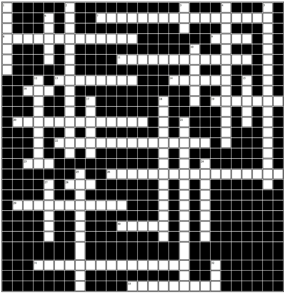 Medieval Crossword 33