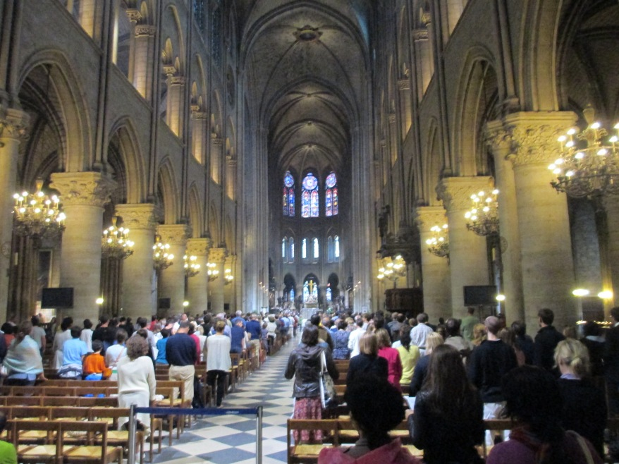Notre Dame Cathedral Paris inside