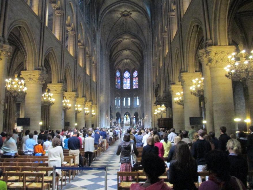 Notre Dame Cathedral Paris inside