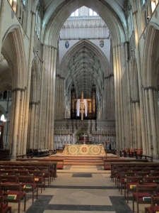 York Minster inside