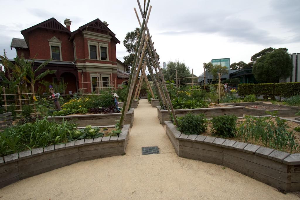Part of the Children's Garden next to